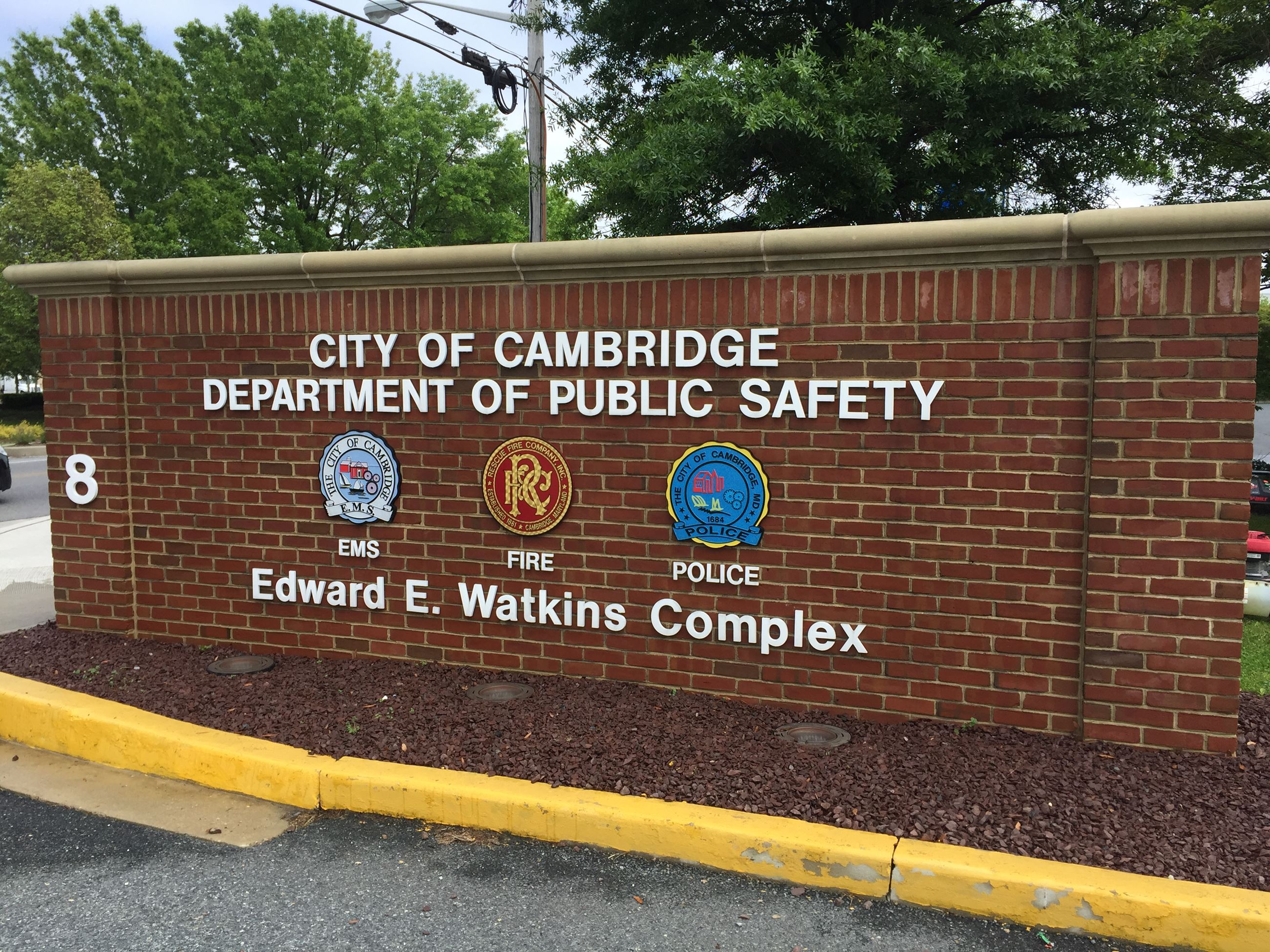 City of Cambridge Department of Public Safety Wall