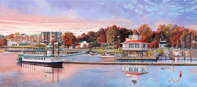 CRL George Wright Painting Jewel of the Choptank